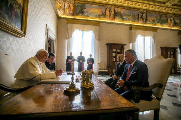Actualité du 19/12/2017 (Le roi de Jordanie au Vatican)