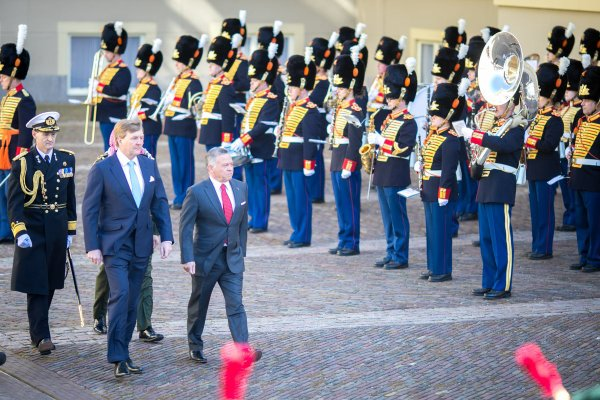 Visite officielle des souverains jordaniens aux Pays-Bas (Jour 1)