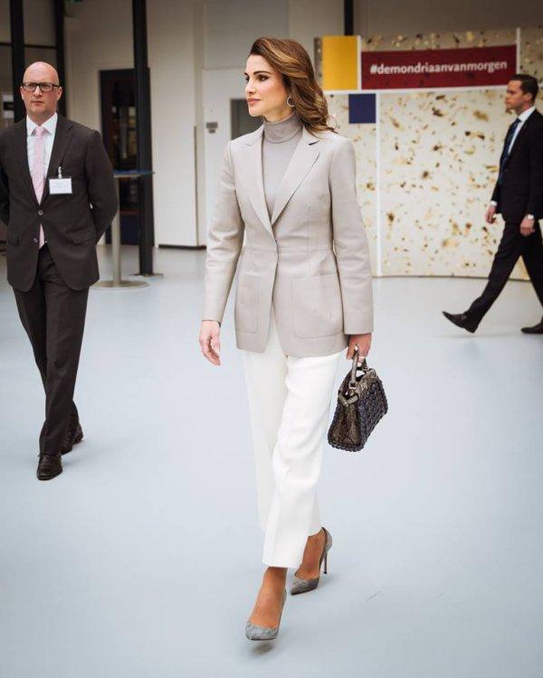 Photos : La reine Rania de Jordanie aux Pays-Bas (Jour 2)