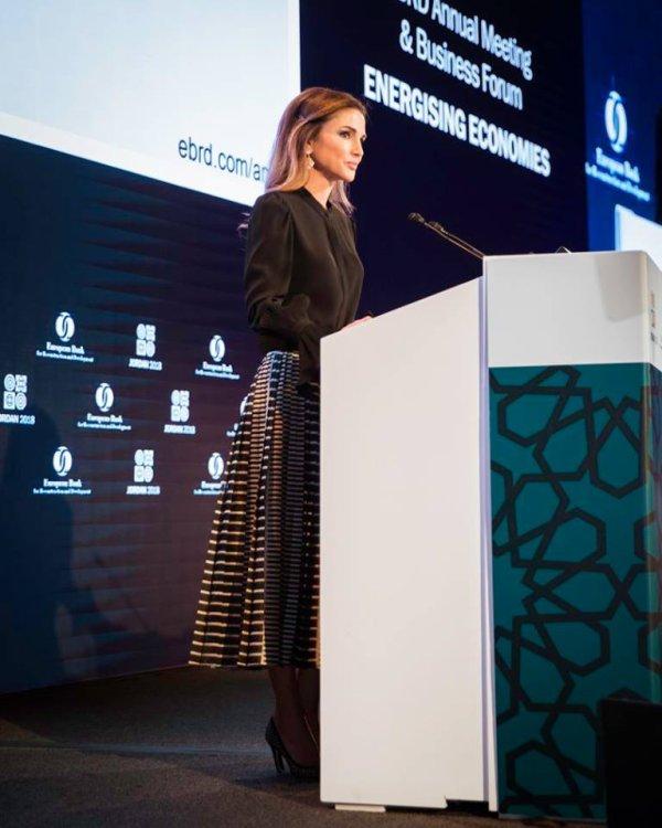 La Reine Rania à l'ouverture de la réunion annuelle de la BERD