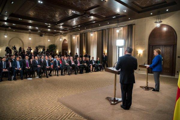 Actualité du 21/06/2018 (le roi, le prince héritier et la chancelière allemande)