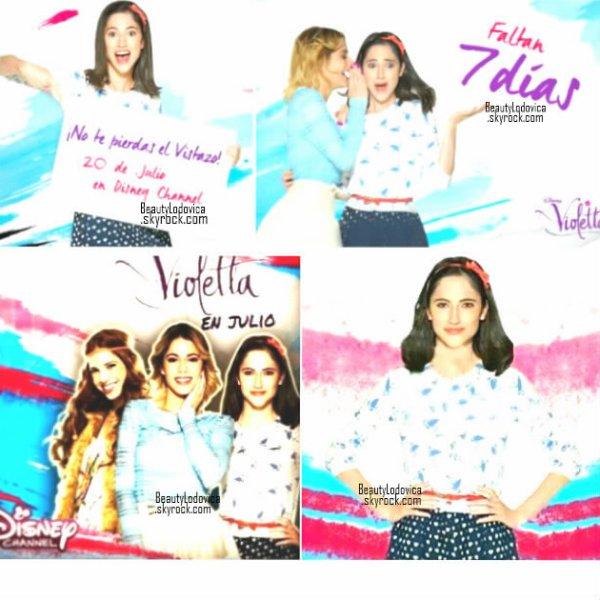 """Lodovica est apparue lors d'un photoshoot Violetta. Les promos pour cette dernière saison sont nombreuses, vient en découvrir certaines sur Lodovica, et n'oublie pas que le Clip officiel """"En gira"""" est enfin apparu."""