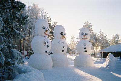 Bonhomme de neige g ant souvenir de laponie - Vrai flocon de neige ...