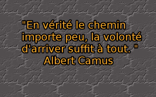 Une citation d'Albert Camus...