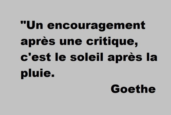 Une citation de Goethe