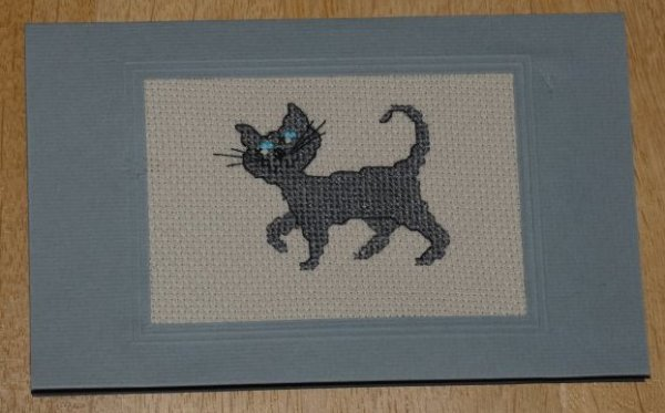 Carte de v½ux : un chat gris