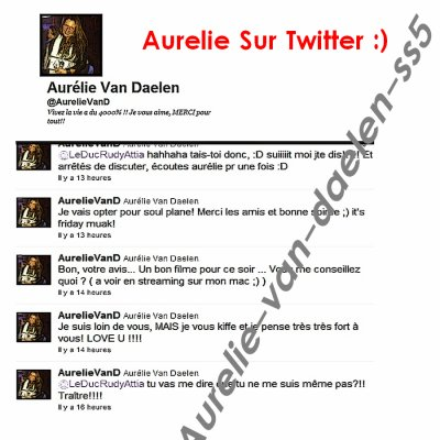 Aurélie On Twitter !
