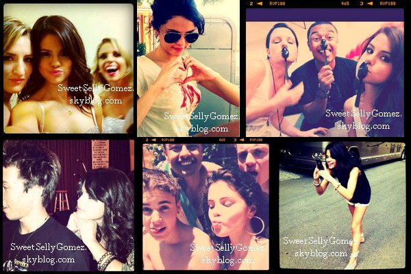 Photos personnels de Selena provenant de son compte Anstagram. Ainsi que les titres gagnés au Teen Choice Awards 2011