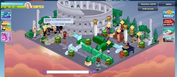 Réponses Quizz Woozworld Express Rome de Jenny