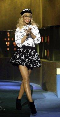 Rihanna sur le plateau de Jonathan Ross Show qui sera diffusé  le 03/03/12