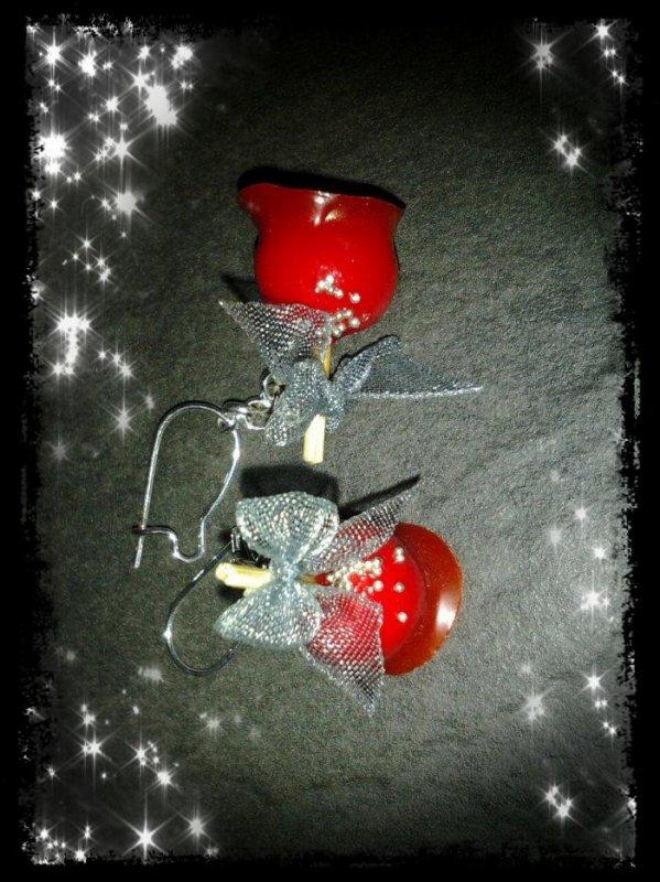 Boucles d'oreilles pomme d'amour