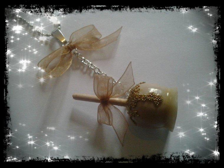 Pomme d'amour chocolat blanc