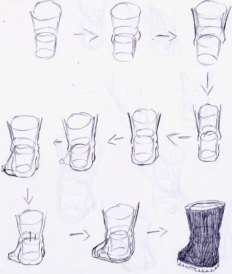 Assez PIED A LA CHAUSSURE DE DERRIERE - blog pour apprendre a dessiner  AX03