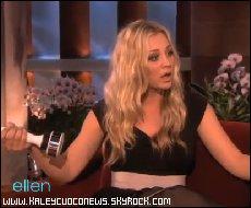 """Kaley était chez Ellen pour présenter le """"shake-a-weight"""""""