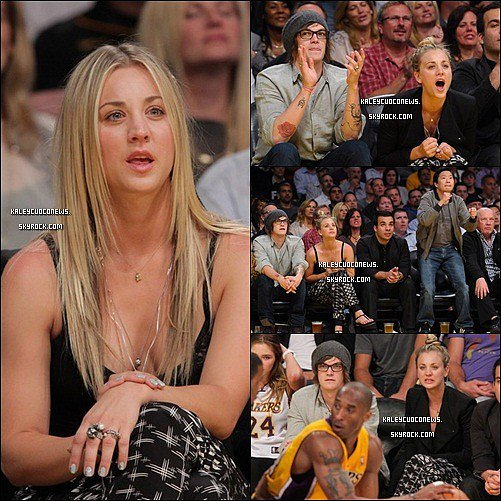 26/04/2011 : Kaley & Christopher French au match Lakers vs Hornet à L.A.
