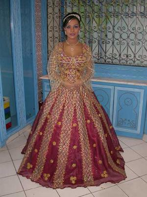 Robe de mariee traditionnelle tunisienne