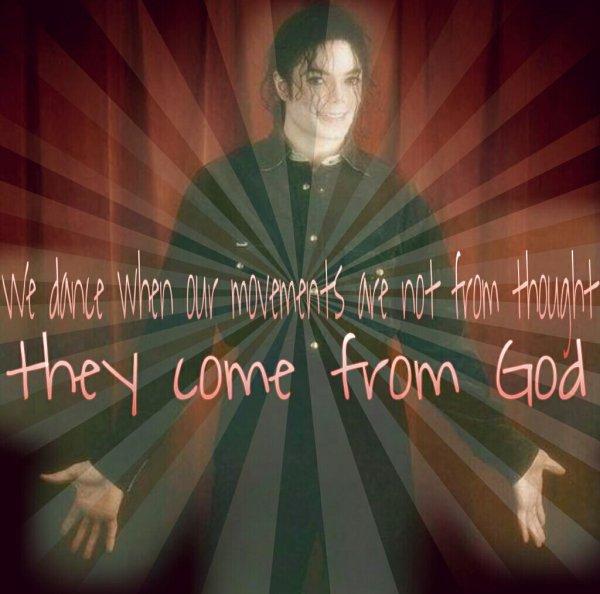 We dance when our movements are not from thought, they come from God                                       Quand nous #dansons nos #mouvements ne viennent pas de la #pensée, ils viennent de #Dieu #michaeljackson #anniversary25 #anniversaire #mortouvivantontaimetoujours