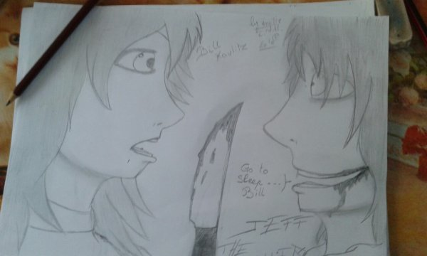 Rencontre de Bill Kaulitz et Jeff the Killer , version manga dessiné par moi^^