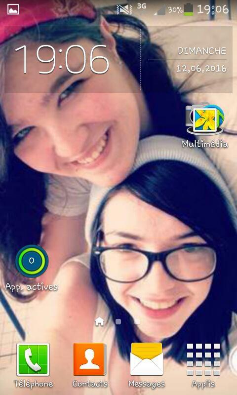 Mon écran de verrouillage et mon écran d'accueil