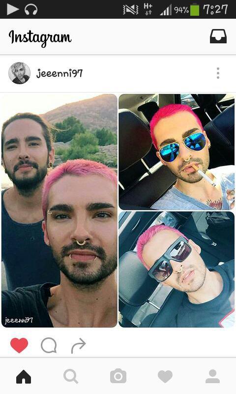 Bill! Les cheveux rose!