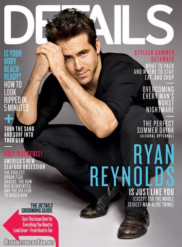 """#  RYAN COVERS """"DETAILS"""" JUNE 2011 >> WWW.RYANREYNOLDSSOURCE.SKYROCK.COM"""