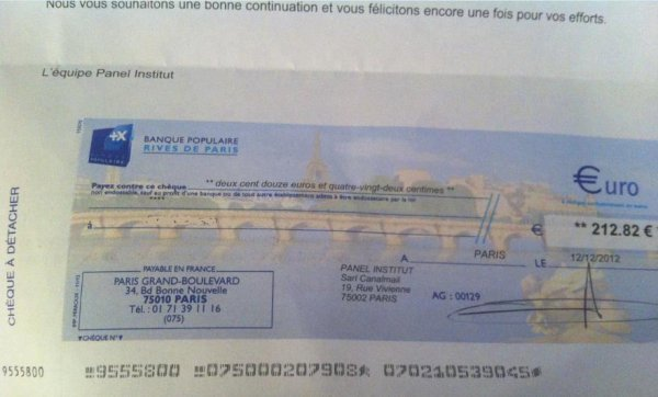 encor un cheque