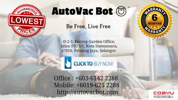 Coayu BL-800 Robovac Pro Negeri Sembilan in a Push of A Button