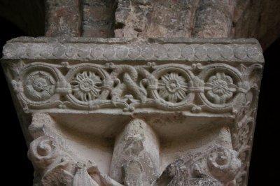 31.3 - Détails fleuris  - Chapiteaux du  Cloître  de Moissac