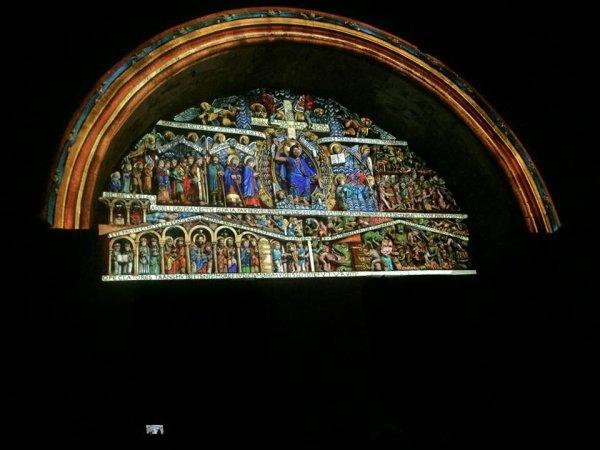 42 - Le tympan  de l' abbatiale  Ste Foy de Conques (12)