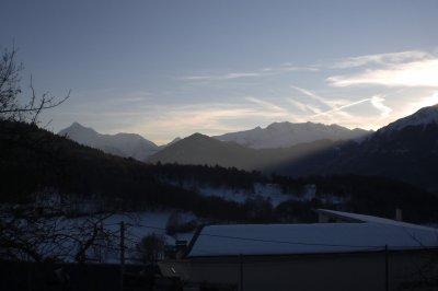 84.4 - Lançon village des  Hautes Pyrénées & ses horizons