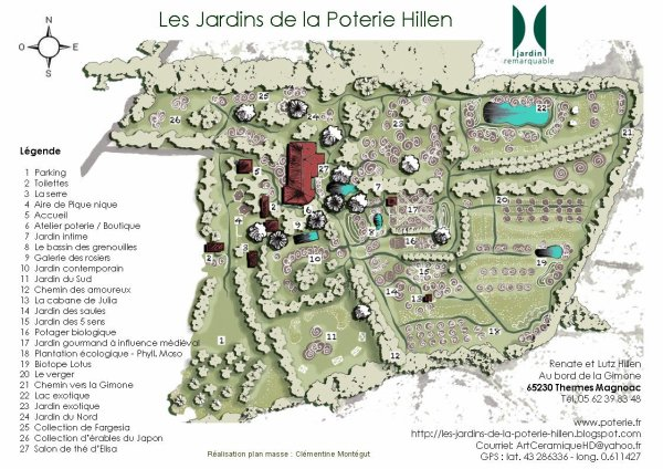 109.1 - Les jardins de la poterie de Hillen à Thermes-Magnoac (65)