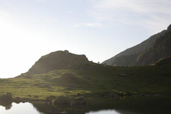 123.3  - Arrivée au Lac d'Arou il est 7H30