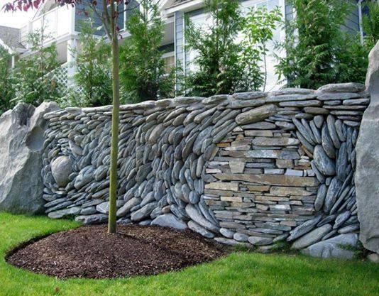 155.4 - Au pied du mur ... paysager ....