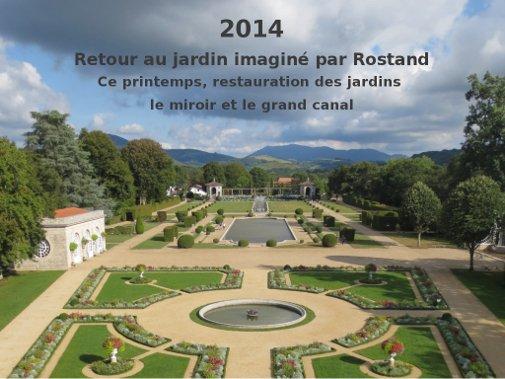 158.2 - Les jardins et la  villa Arnaga d'Edmond Rostand  à Cambo les Bains ( France Pays Basque)