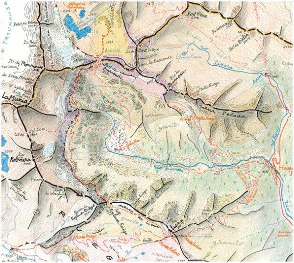160.2 - Cap Sud-Ouest - La vallée de la Gela jusqu'au lac et refuge de Barroude