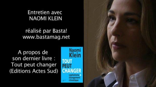 196.2 -Tout peut changer : entretien vidéo avec Naomi Klein