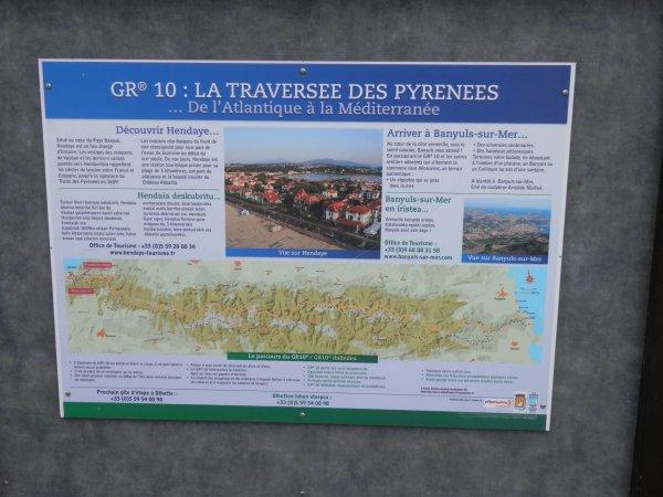 209.2 - Vingt jours sur la trans-Pyrénéenne par le GR10 : au commencement  d'Hendaye ...