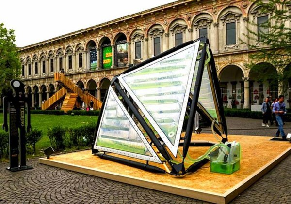 Ce mobilier futuriste produit autant d'oxygène qu'une petite forêt
