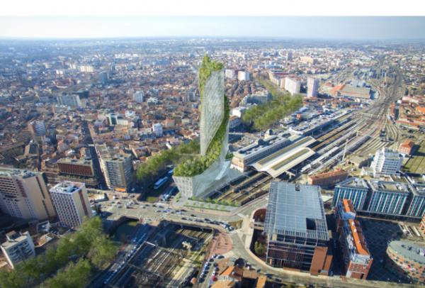 La Tour Occitanie . Voici le futur gratte-ciel qui sera construit près de la gare Matabiau, à Toulouse