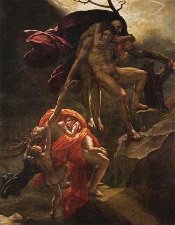 Le Déluge, de Anne-Louis Girodet de Roussy-Trioson (1767- 1824) exposé au Louvre à Paris