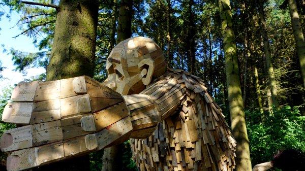 Originales créations à Copenhagues ....: des Géants en palettes recyclées !