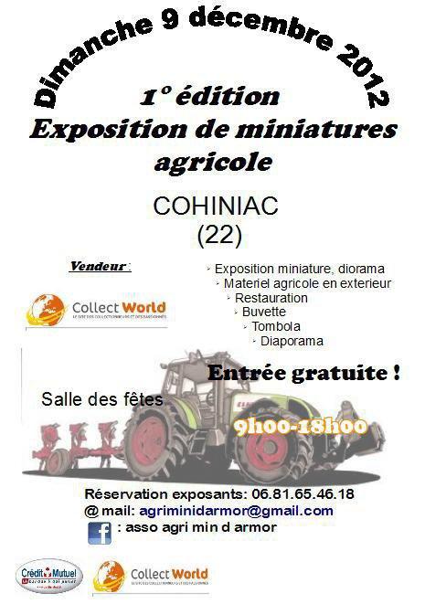 Expo du 9 Décembre a Cohiniac! Venez Nombreux !!!!!
