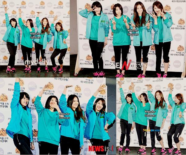 8/o1/12 : Les filles (sans HyunA) étaient présente au Idol Athletics Championships 2012.