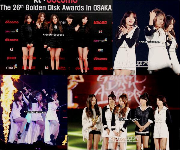 Les 4Minute étaient à l'aéroport. Direction : Osaka pour Les GOLDEN DISK AWARDS .