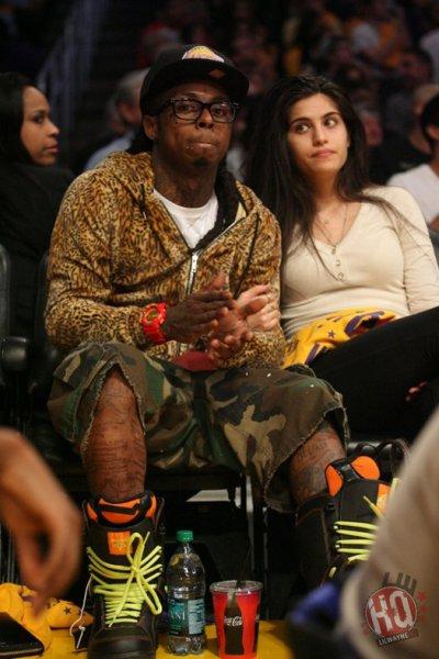Photos: Lil Wayne assiste Los Angeles Lakers vs Chicago Bulls jeu