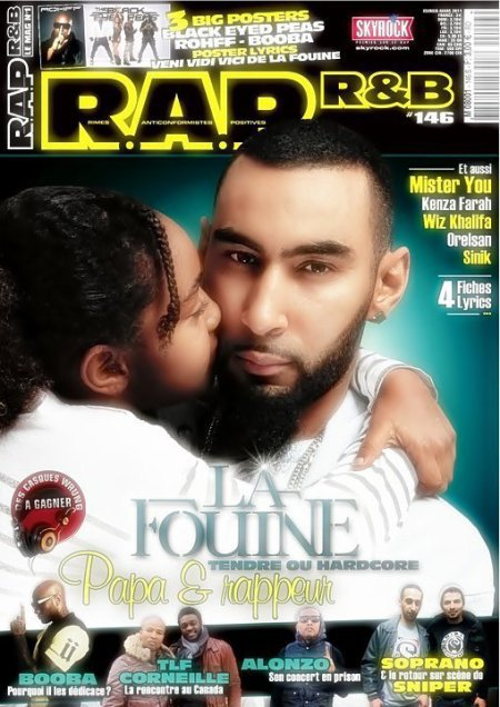 La fouine en couverture du NEW RAP & RNB