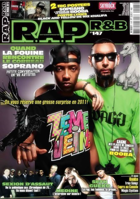 La fouine en couverture du mag RAP & RNB