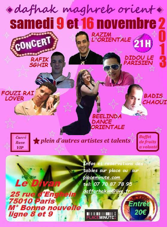 Concert dafhak Maghreb orient production 09/11 et 16/11/13