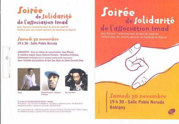 Association IMAD Soirée de solidarité/PROD.