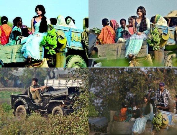 Priyanka Chopra et Arjun Kapoor sur les ensembles de Gunday